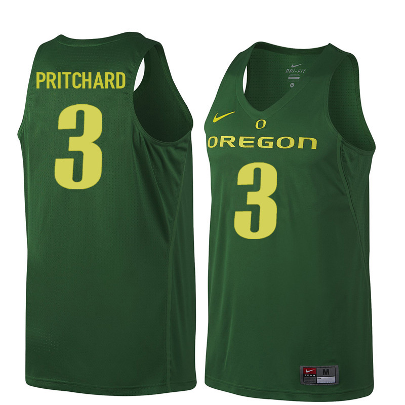Men Oregon Ducks #3 Payton Pritchard College Basketball Jerseys Sale-Dark Green